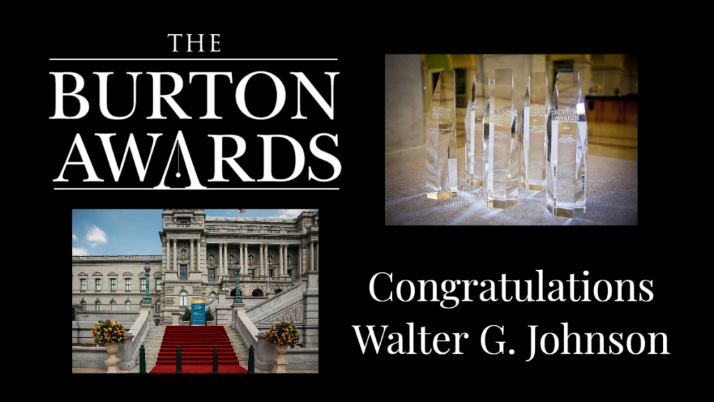 Walter Johnson Burton Award